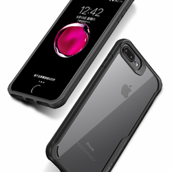 For Iphone 8 Case Iphone 8 plus case Luxury silicone frame + acrylic transparent back cover case for Iphone 8 7 7 plus 2