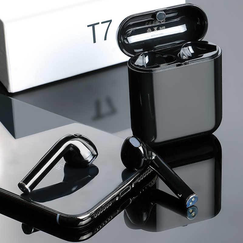 T7 TWS Беспроводные Мини Bluetooth наушники для iPhone с зарядной коробкой стерео спортивные с микрофоном наушники Hifi