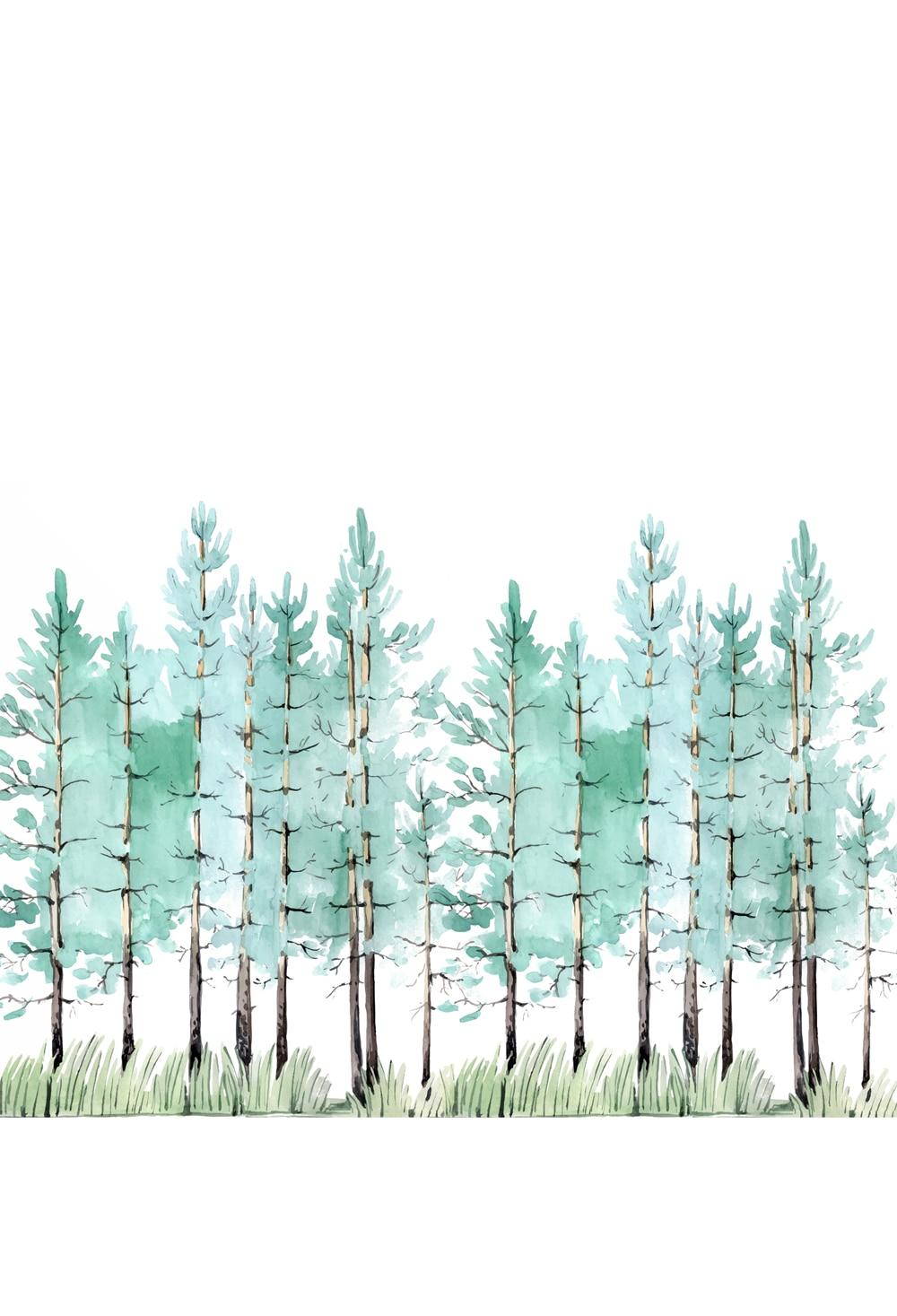 baby cartoon background tree birch forest photo prop for newborns portrait photography digital printing backdrops kid XT-6602