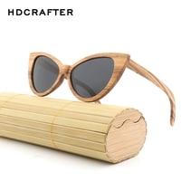 Women Cat Eye Sunglasses Wood Polarized Sun Glasses Vintage Sunglass For Women