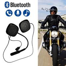 Handsfree Motorcycle Helmet Bluetooth Headset Motorbike Headset Headphone Speaker for Music GPS Motorcycle electronics styling(China)