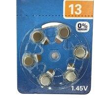 Rainpro 12 pçs/lote A13 13A ZA13 13 PR48 1.45 V da bateria do Aparelho Auditivo Ar Zinco