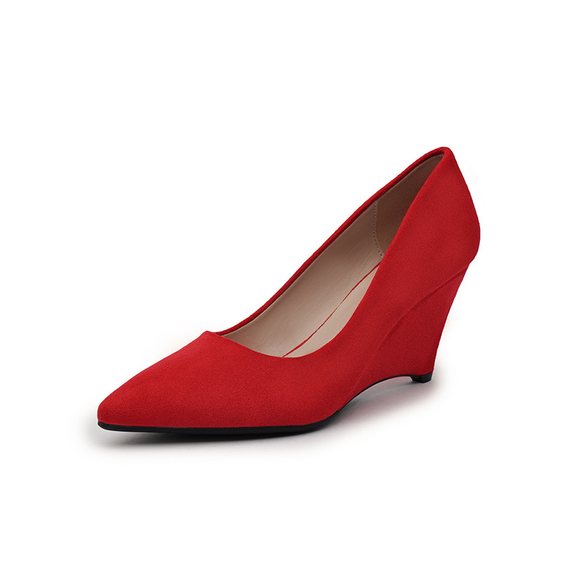 SAILING LU Women Shoes Flock Solid High-Heeled Pumps Summer 2019 Fashion Pointed Toe Female Leisure Slip On Size 35-40 XWD7215 10