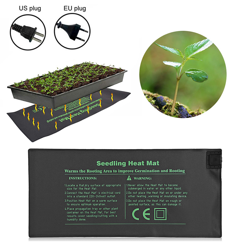 Seedlings Propagation Seedling Heat Mat Seed Germination Electric Heating Pad For Indoor Plant Growth Seed Tray Warm EU/US Plug