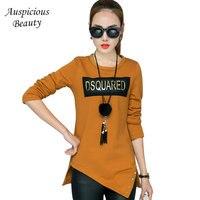 2017 Autumn New Women Shirts Casual Blouses O Neck Rivet Plus Size 3XL Female Cotton Blouse