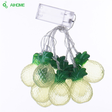 Battery Operated LED String Lights 10Led/set Yellow Fruit Pineapple Shape LED Fairy Lights For Wedding Xmas Party Decoration