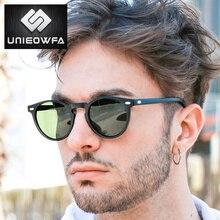 UNIEOWFA Retro Round Sunglasses Men Women HD Polarized TR90