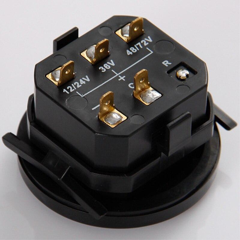 rodada indicador de carga da bateria voltage meter 12 24 v 36 v 48 72 v 04