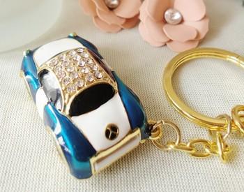 Metal Disk Pendrives Jewelry Usb Flash Drive Car Pendrive 8gb 16gb 32gb 64GB Diamond Pen Drive Memory Stick Key Card Gift 2.0