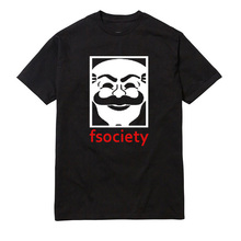 Genius Mr Robot Fsociety Tee Men Graphic O Neck Tee font b Funny b font Hacker