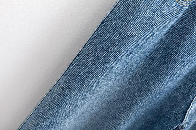 F42 Autumn Winter Plus Size Women Clothing Ankle-length Jeans 4XL Casual Fashion Loose Denim wide leg Pants 8048 15