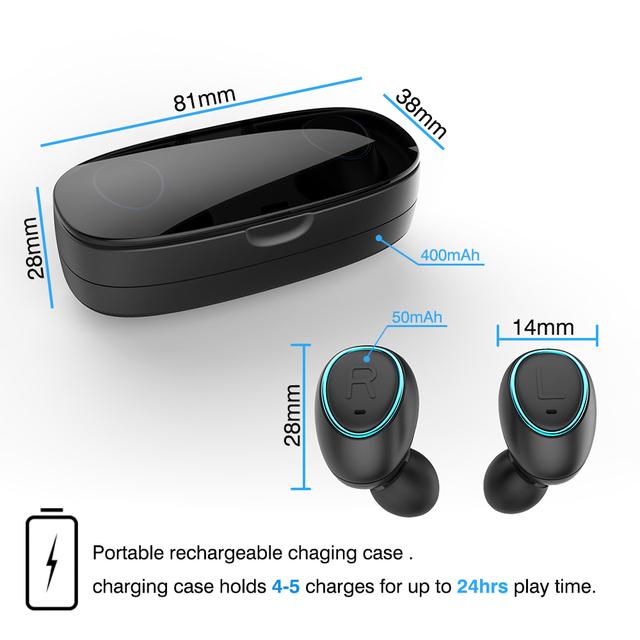 Mini auriculares estéreo 3D inalámbricos Bluetooth pk i10 i14 i20 i60 i80 airdots tws