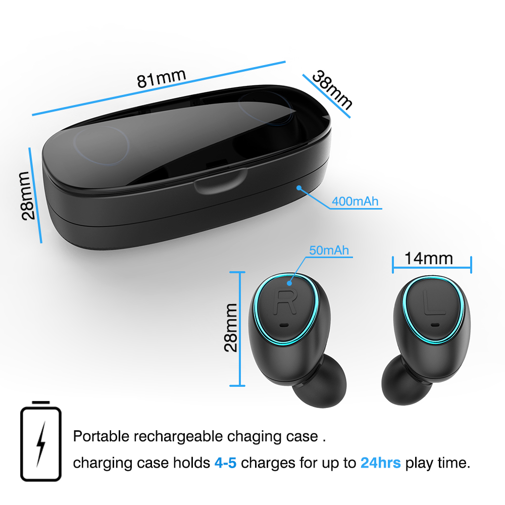 TS007 Twins Mini Auriculares Invisibles Bluetooth Auriculares - Audio y video portátil - foto 4