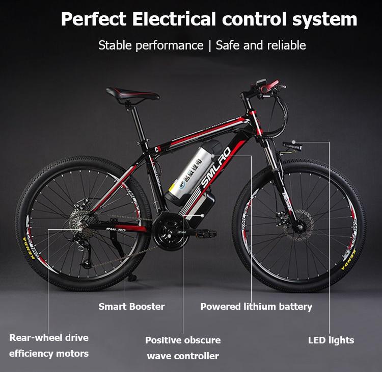HTB1he2DwNuTBuNkHFNRq6A9qpXaQ - 26inch electrical mountain bicycle aluminum alloy ebike 27velocity e-mtb 48V lithium battery 500W motor  Hybrid bicycle