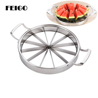 FEIGO 1Pc High Quality Watermelon Slicer Large Stainless Steel Cantaloupe Cutting Seeder Slicer Kitchen Corer Cut Fruit Tool F14