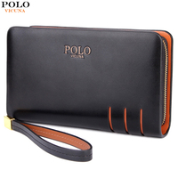 VICUNA POLO Large Capacity Double Layer Mens Clutch Wallet High Quality PU Leather Men Clutch Bag