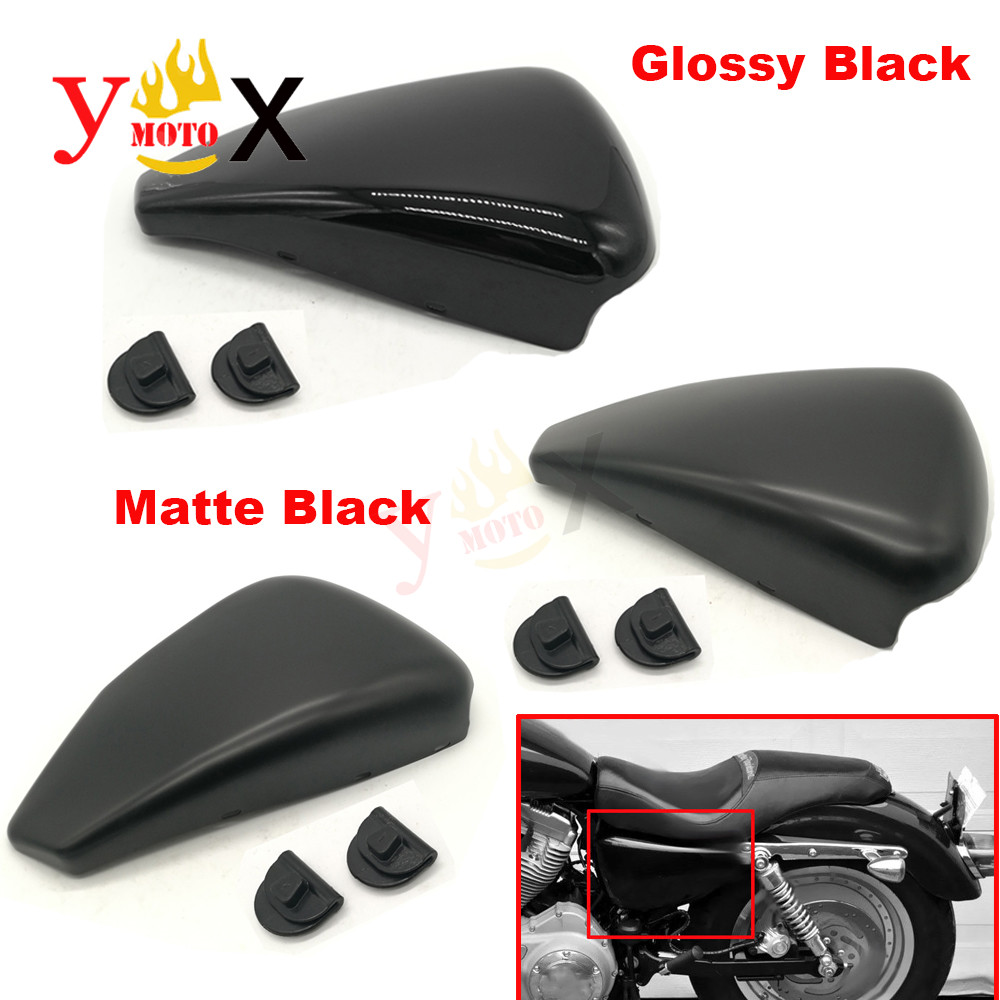 Motorcycle Metal Glossy Matte Left Battery Cover Side Frame Guard For Harley Sportster XL883 XL1200 48