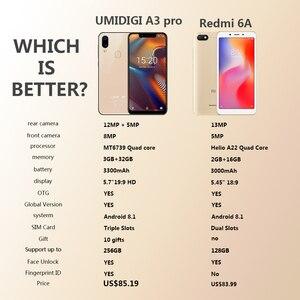 Image 5 - UMIDIGI A3 Pro Globale Della Fascia смартфон с 5,7 дюймовым дисплеем, четырёхъядерным процессором 3 ГБ + 32 ГБ, 12 Мп + 5 МП, Android 8,1