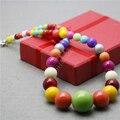 L9083 Новый стиль 6-20 мм Многоцветный Конфеты Стеклянные бусы ожерелье, Очаровательная Мода Высокого класса атмосфера Женщина ювелирные изделия