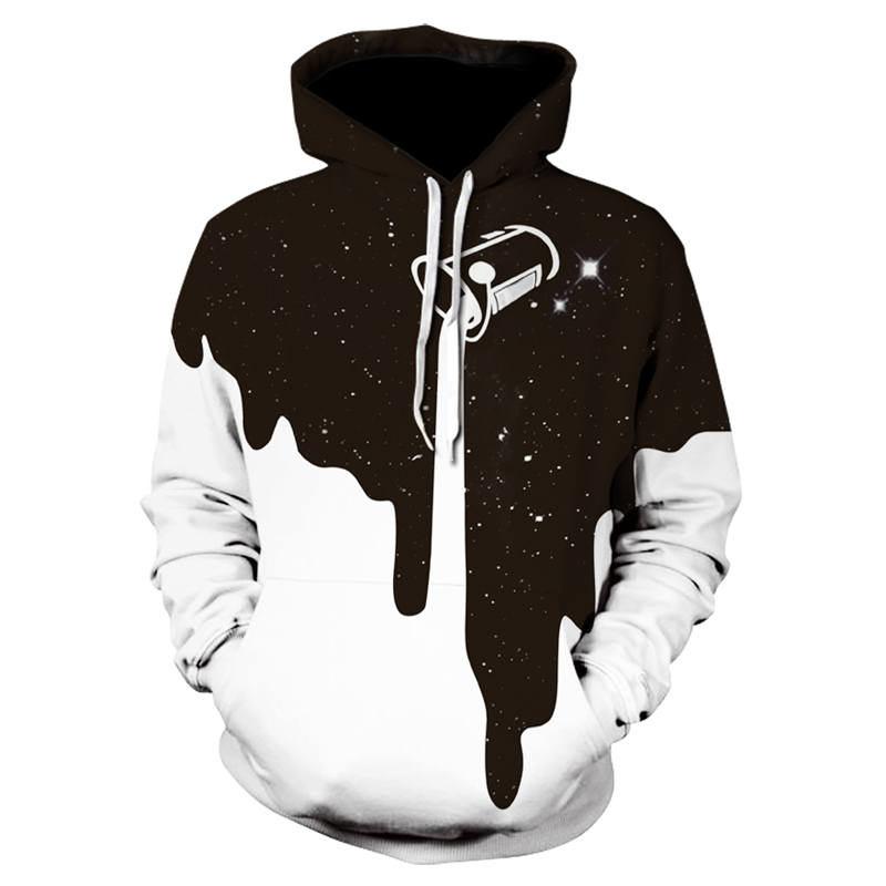 2018 New Hot Fashion Men/Women 3D Sweatshirts Print Milk Space Galaxy Hooded Hoodies Unisex Tops Wholesale And Retail Size S-6XL