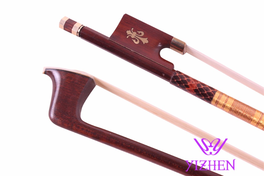 One pcs Snake Wood Violin Bow 4/4 Straight Pretty inlay High Quality  XS-011 one xs 010 3 snakewood violin bow high quality 1pcs 4 4 violin bow style bone straight