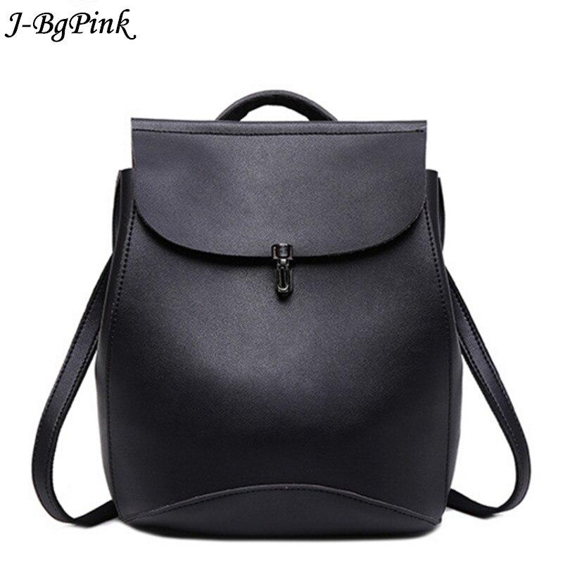 J-bg Pink marque en cuir véritable femmes sac à dos femme bovins split cuir sacs dames vintage sac à dos