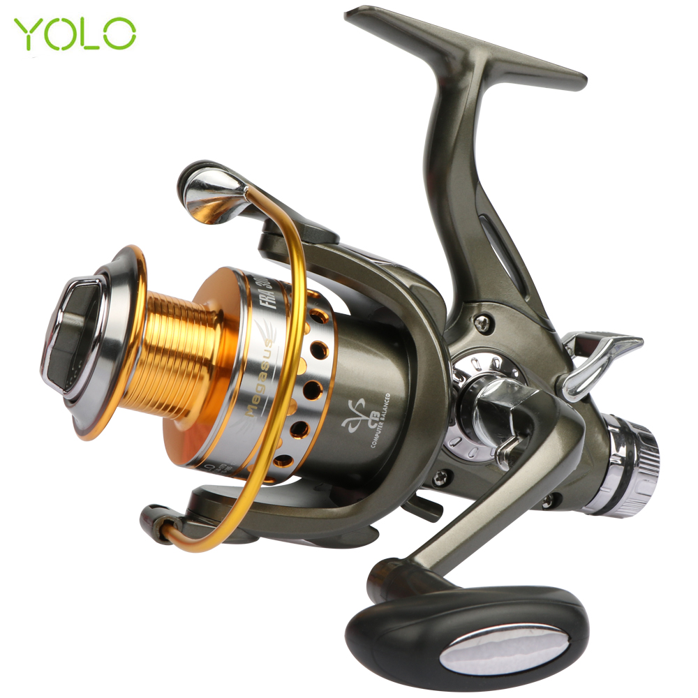 YOLO FRA Dual Brake Feeder Fishing reel 10BB Carp Reel Tackle For Fishing Spinning Free Spare Coil FRA 3000 4000 5000 6000 10 1bb spinning fishing reel fishing tackle tool accessory super fast artificial bait sea fishing wheel dual bearing system