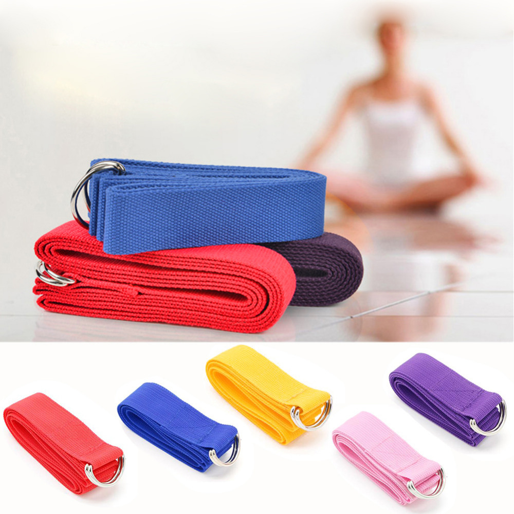 Fitness Elastic Yoga Pilates mat Sling Strap Exercise Stretch high quality cotton soft Adjustable Belts For Sports Gym Excerise