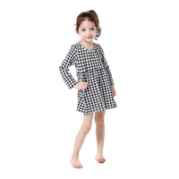Vintage Long Sleeve Party Girls Dress Cotton Winter Western Girls Outfit O Neck Baby Girls Dress
