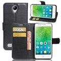 CYBORIS for Lenovo Vibe C2 PowerWallet Leather Phone Case for Lenovo Vibe C2 Power Flip Cover Stand Wallet Bag Card Holder