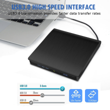 цена на Brushed material External Blu-ray Drive Combo USB 3.0 3D Blu-ray Disc Player & DVD/CD-RW Drive Burner For PC Optical Drive
