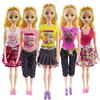 New 5 Pcs Lot Barbie Clothes Fashion Girl Doll S Dress Clothes For Barbie Doll For