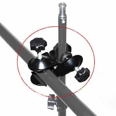 Photo Dual Double U Clip C Clamp for Studio Camera Lighting Boom Arm light Stand