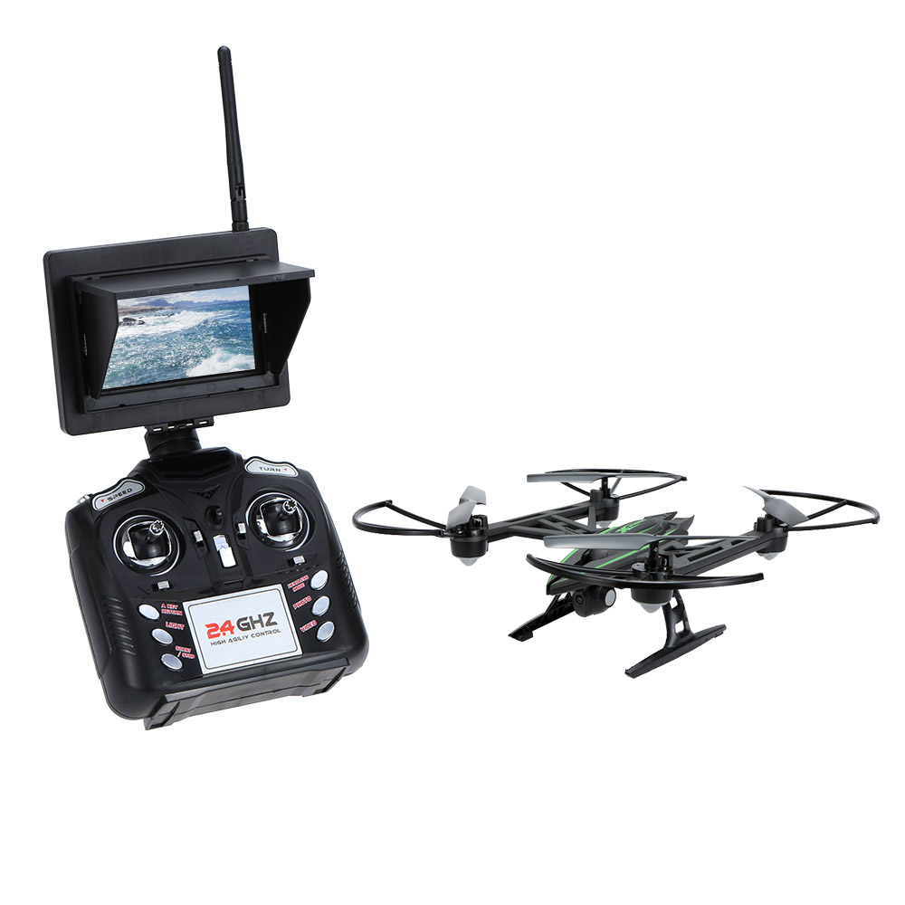 JXD 510G 5.8G RC Quadcopters FPV 2.0MP Camera 2.4GHz 4CH 6 Axis Gyro RC Quadcopter Barometer Set Height RC Drones wifi fpv professional rc drones v686 with camera 2 4g 6 axis gyro rc quadcopters remote control flying helicopter rc toy gift