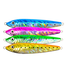 Free shipping lead jig Iron plate fishing lures 16g/24g/30g/70g/123g artificial lure metal fish with 3D eyes lead fish lure