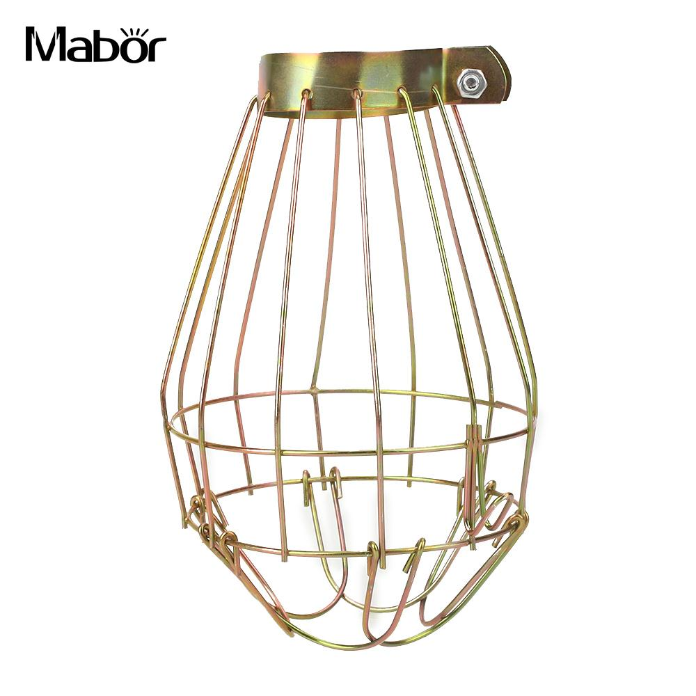 Removable safe lamp shade lamp cover copper iron 10 14cm guard removable safe lamp shade lamp cover copper iron 10 14cm guard indoor decoration anti scald lighting parts vintage in lamp covers shades from lights aloadofball Choice Image