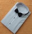 Классический Подходят Полиэстер Рубашки На Заказ Любые Цвета Мужчины Свадьба Жених Передние Складки Жених Мужская Рубашка CS11