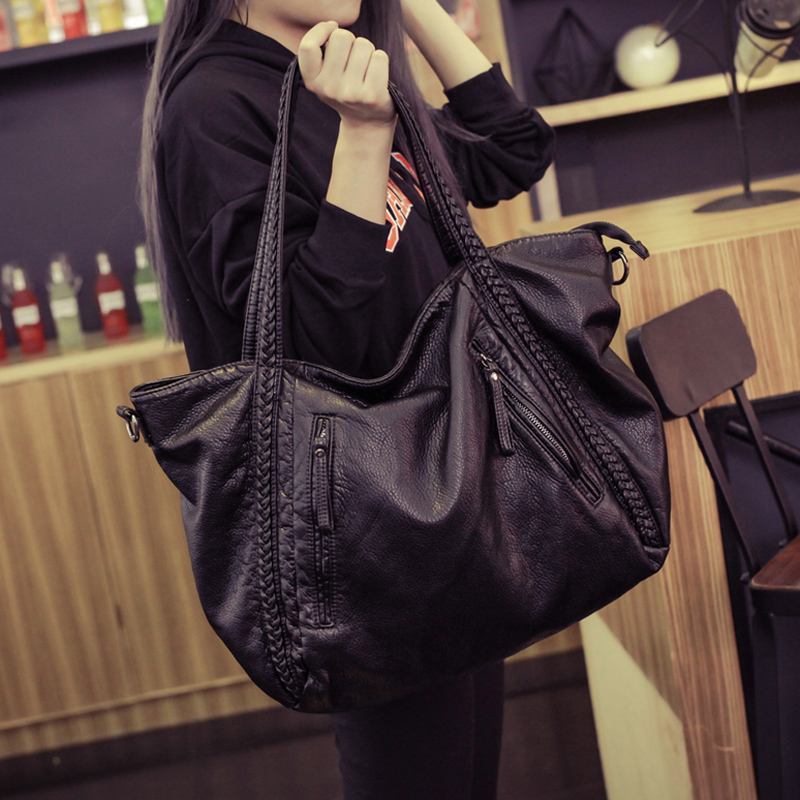 2017 Large Soft Leather Bag Women Handbags Ladies Crossbody Bags For Women Shoulder Bags Female Big Tote Sac A Main Famous Brand