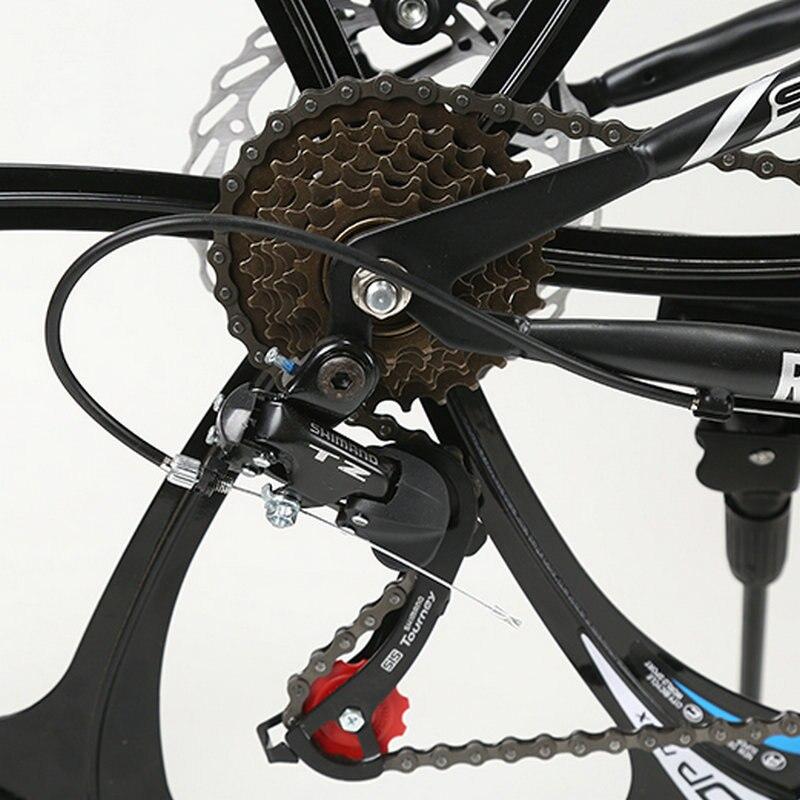 Correr leopardo plegable bicicleta de montaña 26 pulgadas acero bicicletas de 21 velocidades doble disco frenos bicicleta de carreras bicicleta BMX Bik - 6