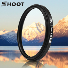 SHOOT 52mm Black Mental Glass Circular Polarizing CPL Lens Filter Set with Filter Adapter for GoPro Hero 7 6 5 Go Pro Action Cam