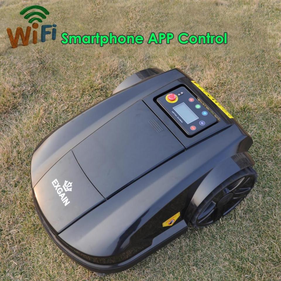 Новые Робот газонокосилка S520 WI FI приложение Беспроводной Управление Электрическая Газонокосилка робот Водонепроницаемый Батарея Беспров