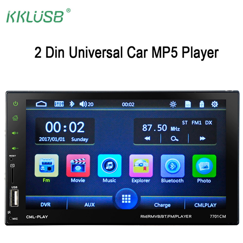 Autoradio 2 din 7 HD Touch Screen Bluetooth Stereo Support Mirror link+USB Charger+USB Car audio AUX IN TF MP5 Rear View Camera 7 inch universal 2 din hd touch screen bluetooth car stereo fm radio mp5 player with usb tf aux input rear view camera for bmw
