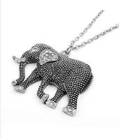 Brand New High Quality Fashion Picture New Crystal Elephant Pendant Necklace Long Sweater Necklace