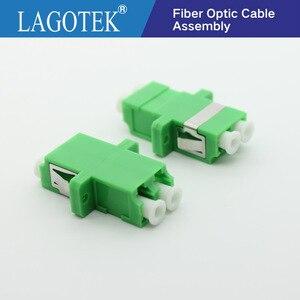 Image 5 - 25/50/100/200Pcs LC APC Duplex single mode Fiber optic Adapter LC Optical fiber coupler LC APC Fiber flange LC connector
