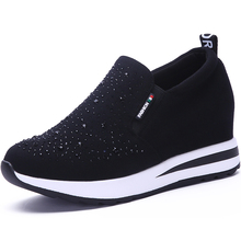 High Heel Women Shoes 2019 Women Casual Shoes Breathable Fashion Rhinestone