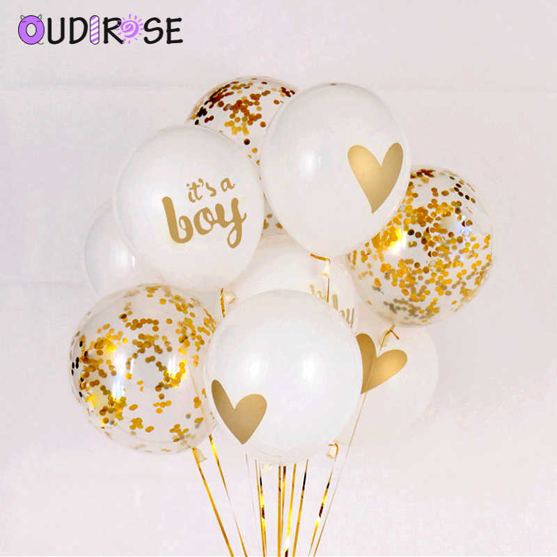 OUDIROSE 1 pc שקוף Bronzing לטקס בלון 12 אינץ הליום בלון מסיבת יום הולדת תינוק מקלחת כלה חתונה קישוט