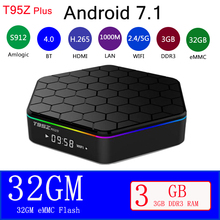 Newest T95Z Plus Amlogic S912 Android 7.1 TV BOX  2/3GB 16/32GB Media player 4K HD2.4G&5G wifi BT4.0 Gigabit Lan h96 pro plus smart tv box android 7 1 amlogic s912 octa core 3gb 32gb 4k hd media player 2 4g 5g wifi bt4 1 mini pc set top box
