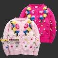 Nova Chegada da Alta Qualidade Da Moda 2016 Crianças Camisola Criança Cardigan Camisola Meninas Blusas Crianças Outono Meninas Camisolas Dos Miúdos