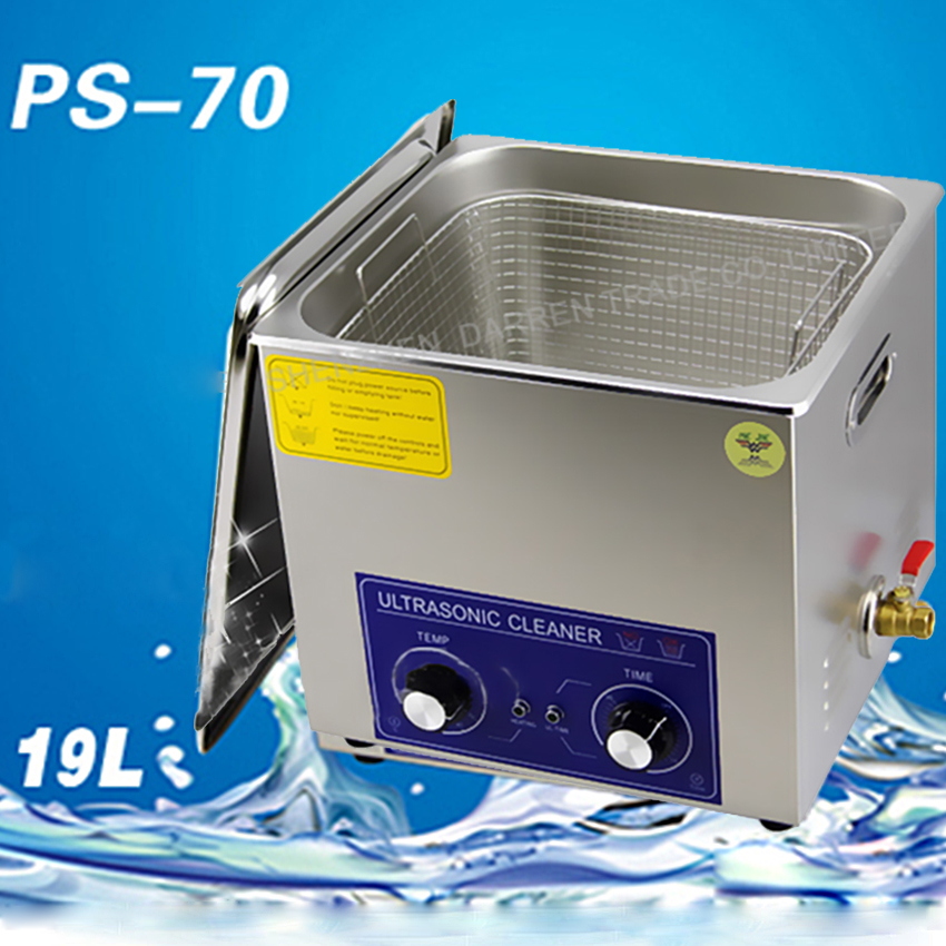 1PC 19L PS 70 PCB board / computer board / hardware accessories ultrasonic cleaning Machine 40,000 Hz/360W / 110/220V