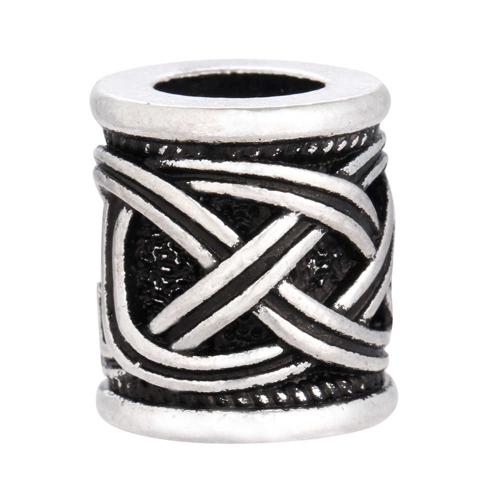 1pc thor vikings contas de prata antigo cabelo barba contas encantos achados para colar pulseiras jóias diy grânulo
